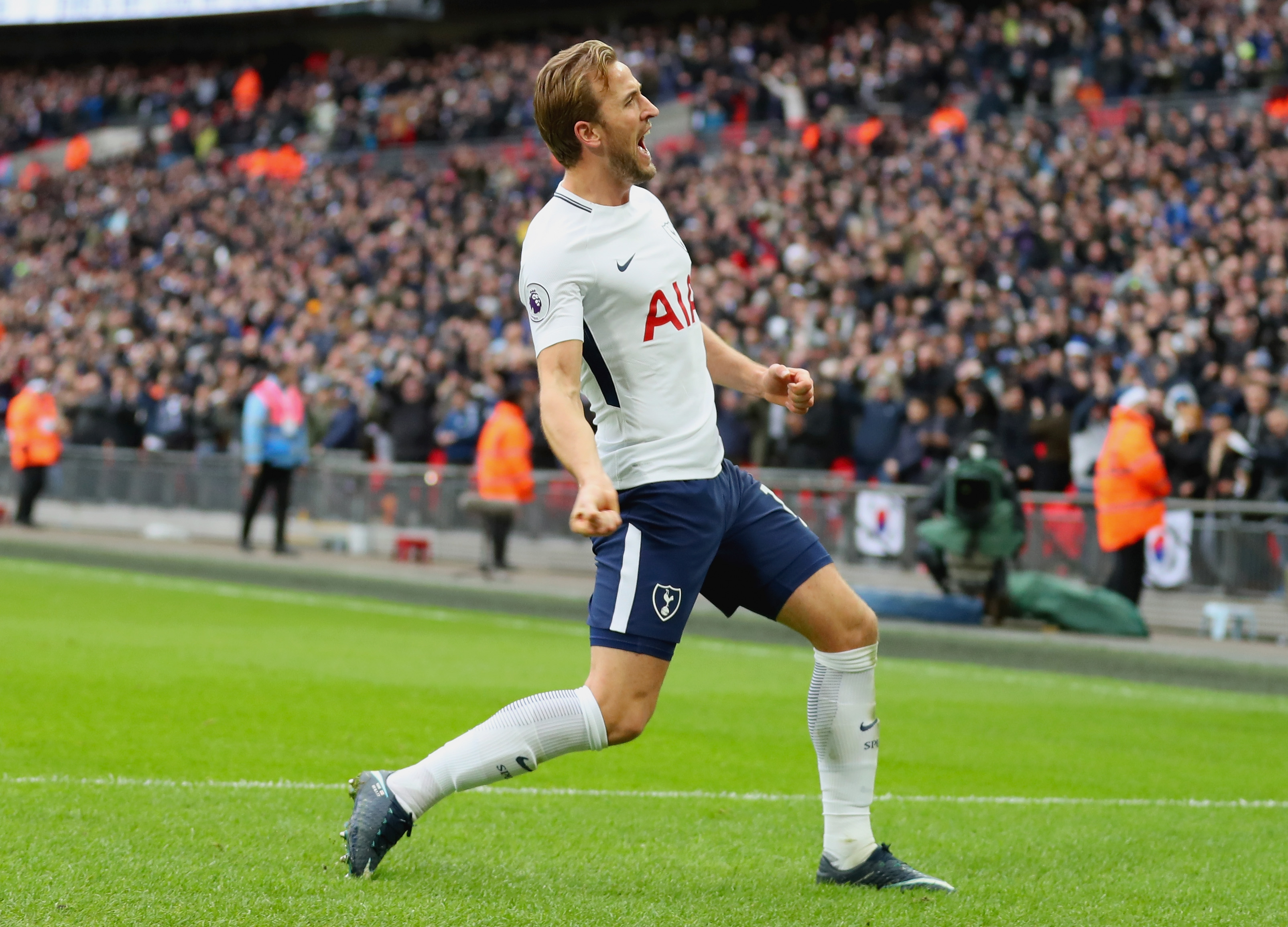 Tottenham's history boy Harry Kane is hailed as world's top striker